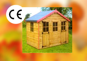Childrens Garden Timber Play house Bikers Rest