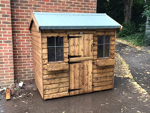 Dual Wooden Wendy House