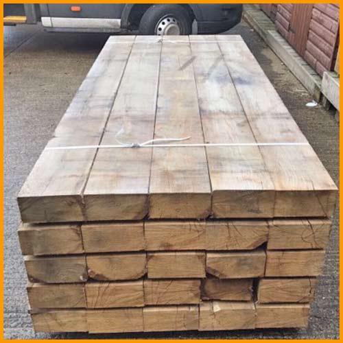 Garden Sleepers - Quality Oak & Softwood Sleepers On Sale