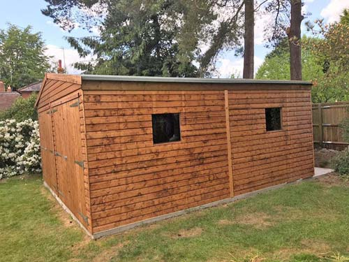 Timber Double Garage Size 18x18