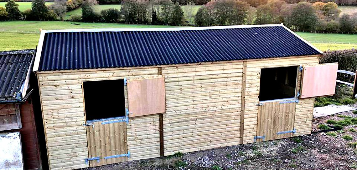 Wood Double Stables