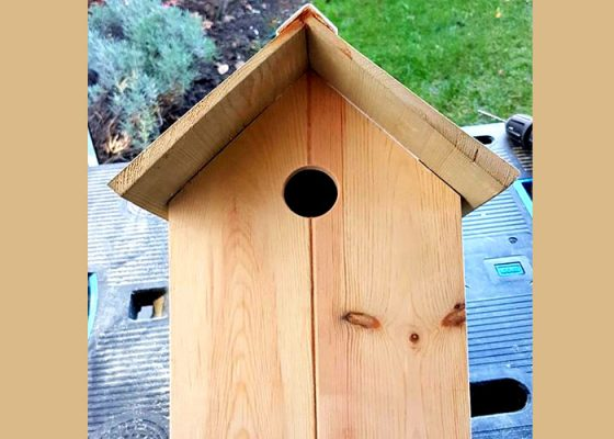 Wooden Garden Bird House