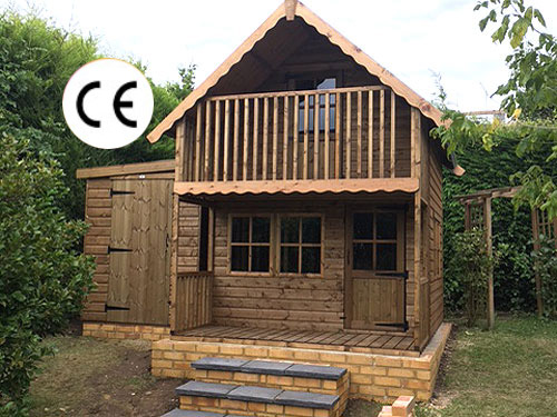 Childrens Garden Timber Play house Alpine Model
