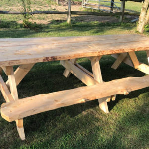 Handmade Rustic Picnic Bench