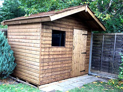 Jay 6x8 Rustic Roof