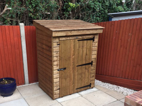 Topwood Tall Store Mini Garden Shed