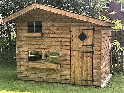 Jack & Jill Kids Playhouse 8x6 With Rustic Roof