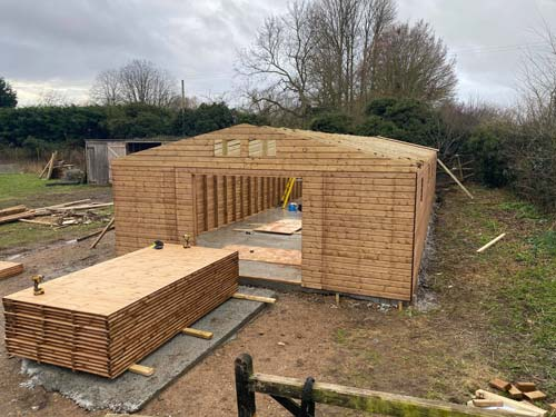 Sectional Timber Workshop 60x20ft